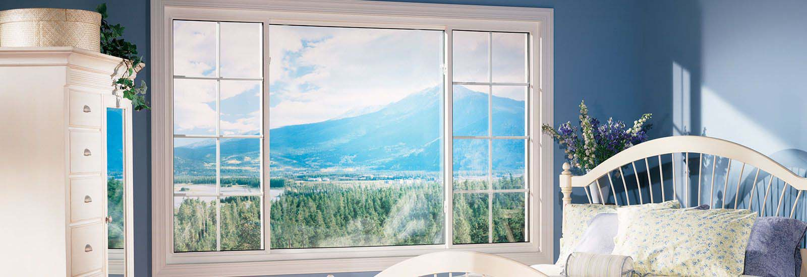 White Vinyl Sliding Windows